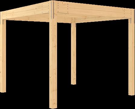 stavebnice pergoly s plochou střechou