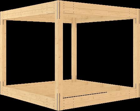 stavebnice altánu s plocho střechou